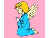 Desenho Anjo a orar pintado por nano