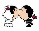 Beijo da recém casado
