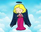 Um anjo a orar