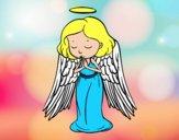 Desenho Um anjo a orar pintado por ImShampoo