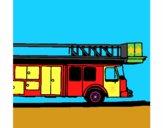 Camião de bombeiros com escada