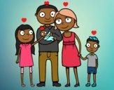 Desenho Família unida pintado por AndressaBR