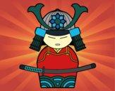 Desenho Samurai chinês pintado por AndressaBR
