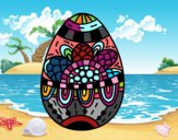 Um ovo de páscoa floral