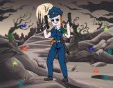 Desenho Um policial femenino pintado por hatsune