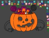 Doces de abóbora de Halloween