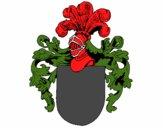 Escudo de armas e capacete