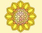 Desenho Mandala 3 pintado por ceciliaz