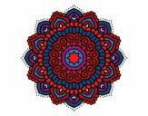 Mandala estrela decorada