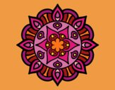 Desenho Mandala vida vegetal pintado por CamillaD