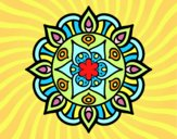 Desenho Mandala vida vegetal pintado por TONINH