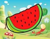 Desenho O pedaço de melancia pintado por Isadoran