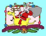 Papai Noel e rena de Natal