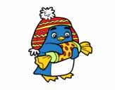 Desenho Pinguim com caramelo pintado por heikroni