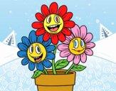 Desenho Vaso de flores pintado por bianca100