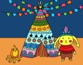 Desenho Coelho indiano pintado por jupesil