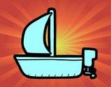 Bote maior com vela