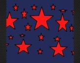 Desenho Conjunto de estrelas pintado por ceciliaz