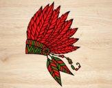 Desenho Coroa de penas indiana pintado por ceciliaz