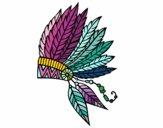 Desenho Coroa de penas indiana pintado por DudaReis