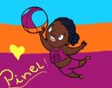 Desenho Jogador de voleibol pintado por AndressaBR