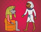 Desenho Os reis egípcios pintado por ceciliaz