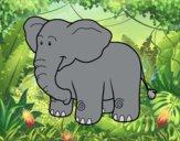 Desenho Um elefante Africano pintado por Springtrap