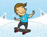Desenho Um skater pintado por Springtrap