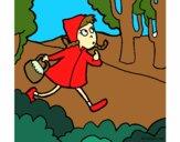 Desenho Capuchinho vermelho 4 pintado por AndressaBR