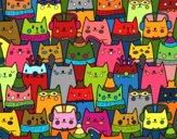 Desenho Gatos do Natal pintado por Giovannamg