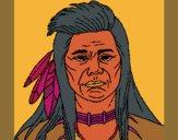 Desenho Índio pintado por ceciliaz