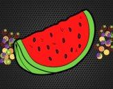 Desenho O pedaço de melancia pintado por belassu