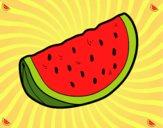 Desenho O pedaço de melancia pintado por bianca100