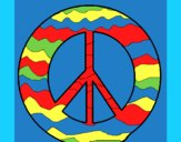 Desenho Símbolo da paz pintado por ceciliaz