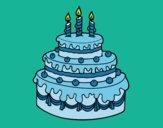 Desenho Torta de Aniversário pintado por ceciliaz