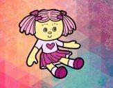 Desenho Boneca de brinquedo pintado por Craudia