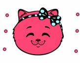 Cara de gatinha feliz
