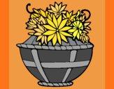 Desenho Cesta de flores 11 pintado por ceciliaz