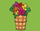 Desenho Cesta de flores 3 pintado por Craudia