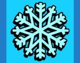 Desenho Copo de neve pintado por jabuti