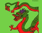 Desenho Dragão chinês pintado por ceciliaz