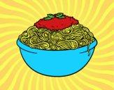 Desenho Espaguete pintado por jabuti