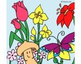 Desenho Fauna e Flora pintado por Craudia