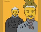 Desenho Guerreiros chineses pintado por ceciliaz
