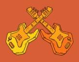 Desenho Guitarra eléctrica pintado por ceciliaz