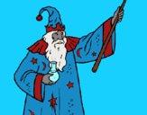 Desenho Mago com poção pintado por ceciliaz