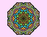 Desenho Mandala flor conceitual pintado por luzinda
