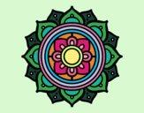 Mandala mosaico griego