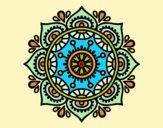 Desenho Mandala para relaxar pintado por luzinda