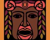 Desenho Máscara Maia pintado por ceciliaz